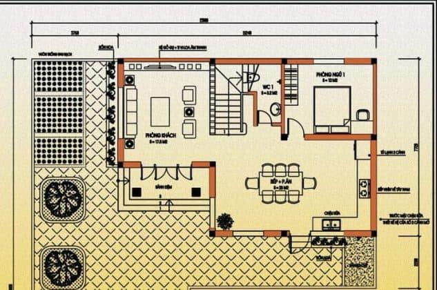 bản vẽ biệt thự 2 tầng mái thái