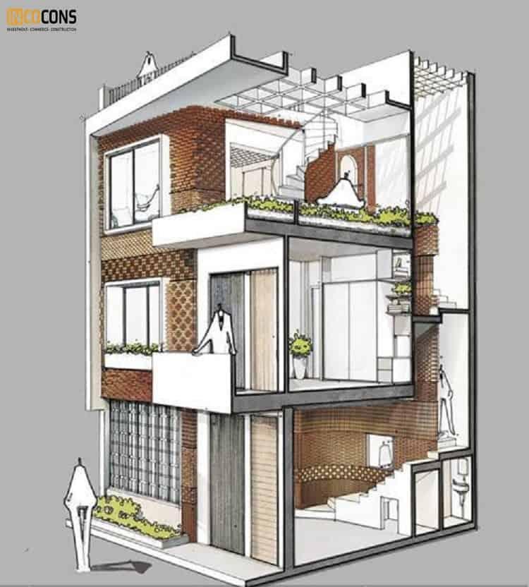 cai tạo nhà 2 tầng thành 3 tầng